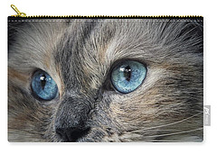 Blue Eyed Girl Carry-all Pouch by Karen Stahlros