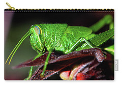 Blue Eyed Green Grasshopper 001 Carry-all Pouch