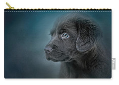 Blue Eyed Puppy Carry-all Pouch by Jai Johnson