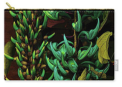 Blue Jade Vine Carry-all Pouch by Craig Wood