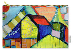 Carry-all Pouch featuring the painting Blue Fin's Fresh Seafood by Susan Stone