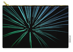 Carry-all Pouch featuring the photograph Blue Firework by Chris Berry