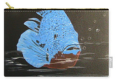 Blue Fish Carry-all Pouch by Catherine Swerediuk