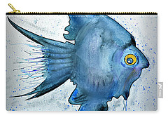 Carry-all Pouch featuring the photograph Blue Fish by Walt Foegelle