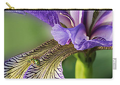 Carry-all Pouch featuring the photograph Blue Flag  by Susan Capuano