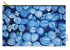 Blue Floral Frenzy Carry-all Pouch