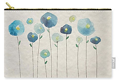 Blue Floral Carry-all Pouch