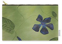 Blue Flower On A Vine Carry-all Pouch