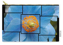 Blue Flower Photo Sculpture  Butchart Gardens  Victoria Bc Canada Carry-all Pouch