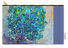 Blue Flowers In A Vase Carry-all Pouch by AmaS Art