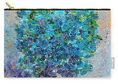 Blue Flowers In A Vase Carry-all Pouch