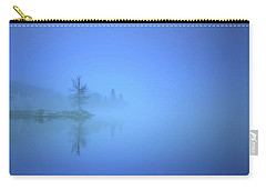 Carry-all Pouch featuring the photograph Blue Fog At Skaha Lake by Tara Turner