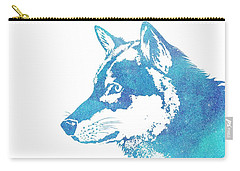 Blue Galaxy Wolf Carry-all Pouch