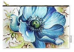 Blue Gem Carry-all Pouch by Anna Ewa Miarczynska