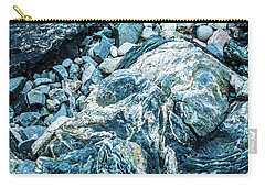 Carry-all Pouch featuring the photograph Blue Gnome Rock by Daniel Hebard
