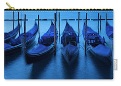 Carry-all Pouch featuring the photograph Blue Gondolas by Brian Jannsen