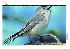 Carry-all Pouch featuring the photograph Blue-gray Gnatcatcher by Rodney Campbell