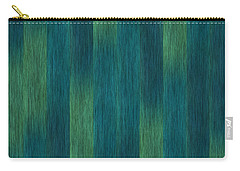 Blue Green Abstract 1 Carry-all Pouch