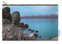 Carry-all Pouch featuring the photograph Blue, Green, Gray by Davor Zerjav