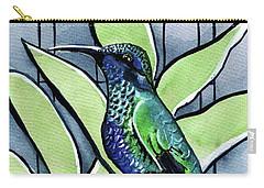 Blue Green Hummingbird Carry-all Pouch
