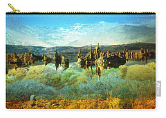 Blue Green Water Landscape Carry-all Pouch by Art America Gallery Peter Potter