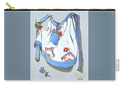 Blue Handkerchief Apron Carry-all Pouch