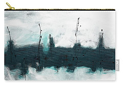 Carry-all Pouch featuring the painting Blue Harbour by Carmen Guedez
