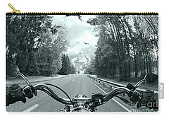 Blue Harley Carry-all Pouch by Micah May