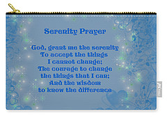 Blue Hearts Serenity Prayer Carry-all Pouch