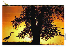Blue Heron At Sunrise Carry-all Pouch