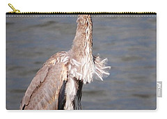 Carry-all Pouch featuring the photograph Blue Heron Calling by Sumoflam Photography