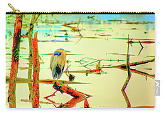 Carry-all Pouch featuring the photograph Blue Heron by Dale Stillman
