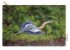 Carry-all Pouch featuring the photograph Blue Heron Flight by Shari Jardina