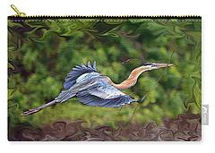 Blue Heron Flight Carry-all Pouch by Shari Jardina