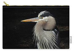 Carry-all Pouch featuring the photograph Blue Heron Gaze by Deborah Smith