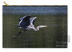 Blue Heron In Flight Carry-all Pouch