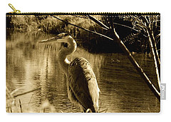 Great Blue Heron Carry-all Pouch by Janice Spivey