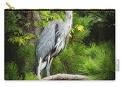 Blue Heron Carry-all Pouch by Lydia Holly