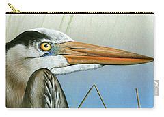 Blue Heron  Carry-all Pouch by Mike Brown