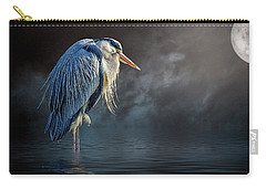 Blue Heron Moon Carry-all Pouch by Brian Tarr