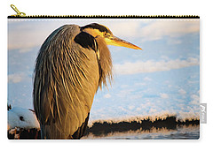 Carry-all Pouch featuring the photograph Blue Heron Resting by Bryan Carter