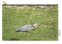 Blue Heron Carry-all Pouch by Robin Regan