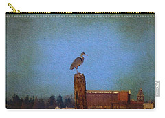 Blue Heron Sky Painted Carry-all Pouch