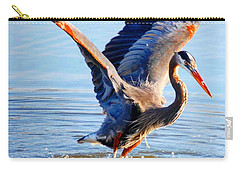 Carry-all Pouch featuring the photograph Blue Heron by Sumoflam Photography