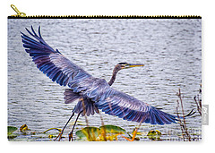 Blue Heron  Take Off  Carry-all Pouch