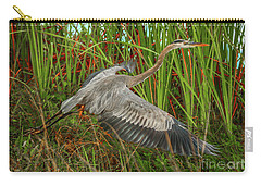 Blue Heron Take-off Carry-all Pouch