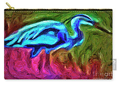 Carry-all Pouch featuring the photograph Blue Heron by Walt Foegelle