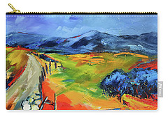 Carry-all Pouch featuring the painting Blue Hills By Elise Palmigiani by Elise Palmigiani