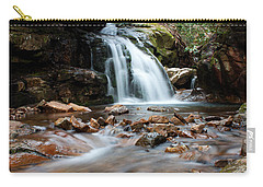 Carry-all Pouch featuring the photograph Blue Hole In Spring #3 by Jeff Severson