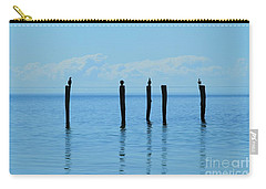 Carry-all Pouch featuring the photograph Blue Horizon by Stephen Mitchell
